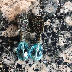 Heidi Daus Dangle Clip on Earrings